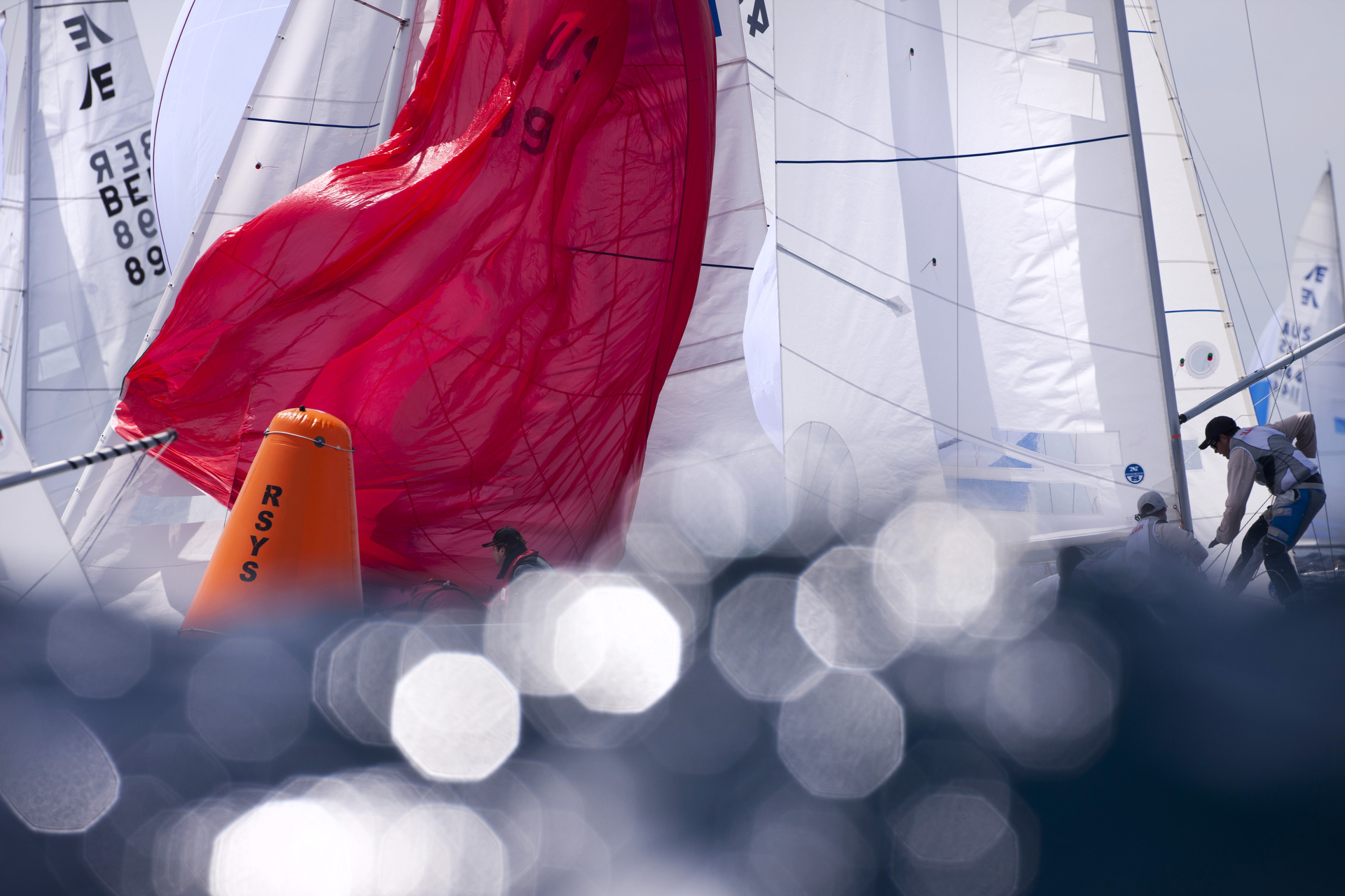 Sydney sailing photographer, aerial photography, Etchells, spinnaker, wave, yacht, regatta, ocean racing