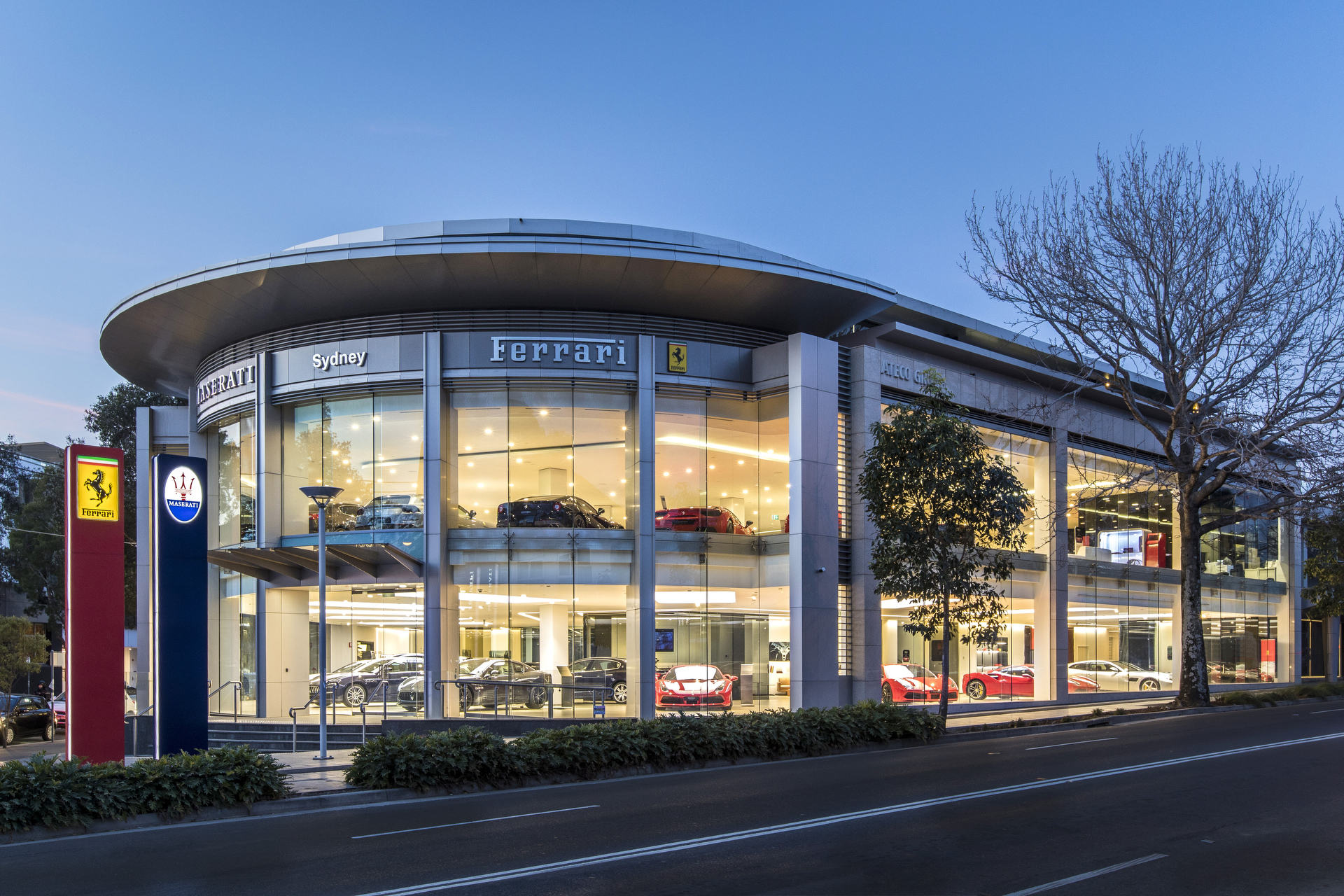 Sydney real estate photographer, architecture, travel, Ferrari, dealership, car, luxury