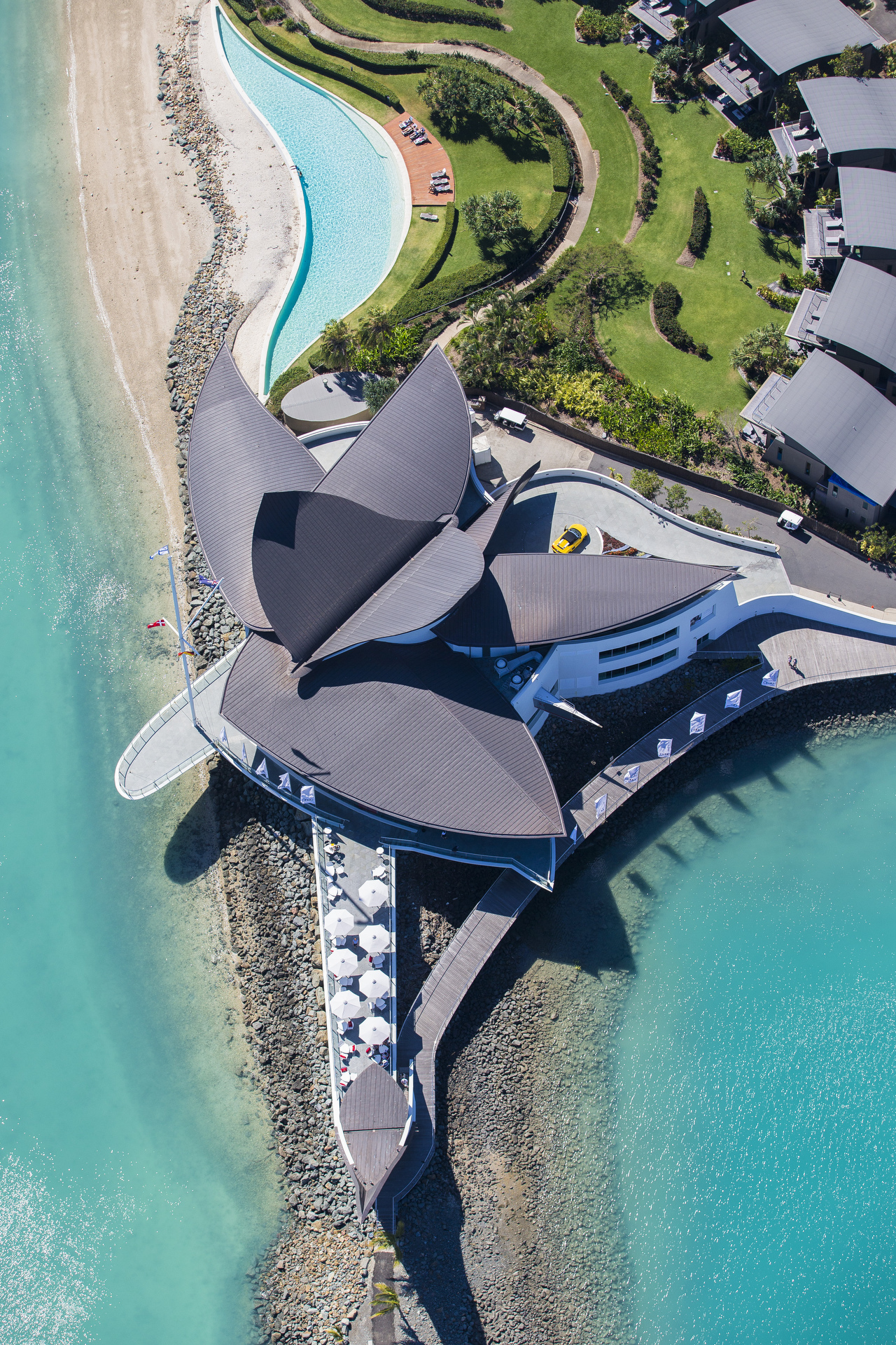 Sydney real estate photographer, architecture, travel, Hamilton Island, Yacht club, aerial photography
