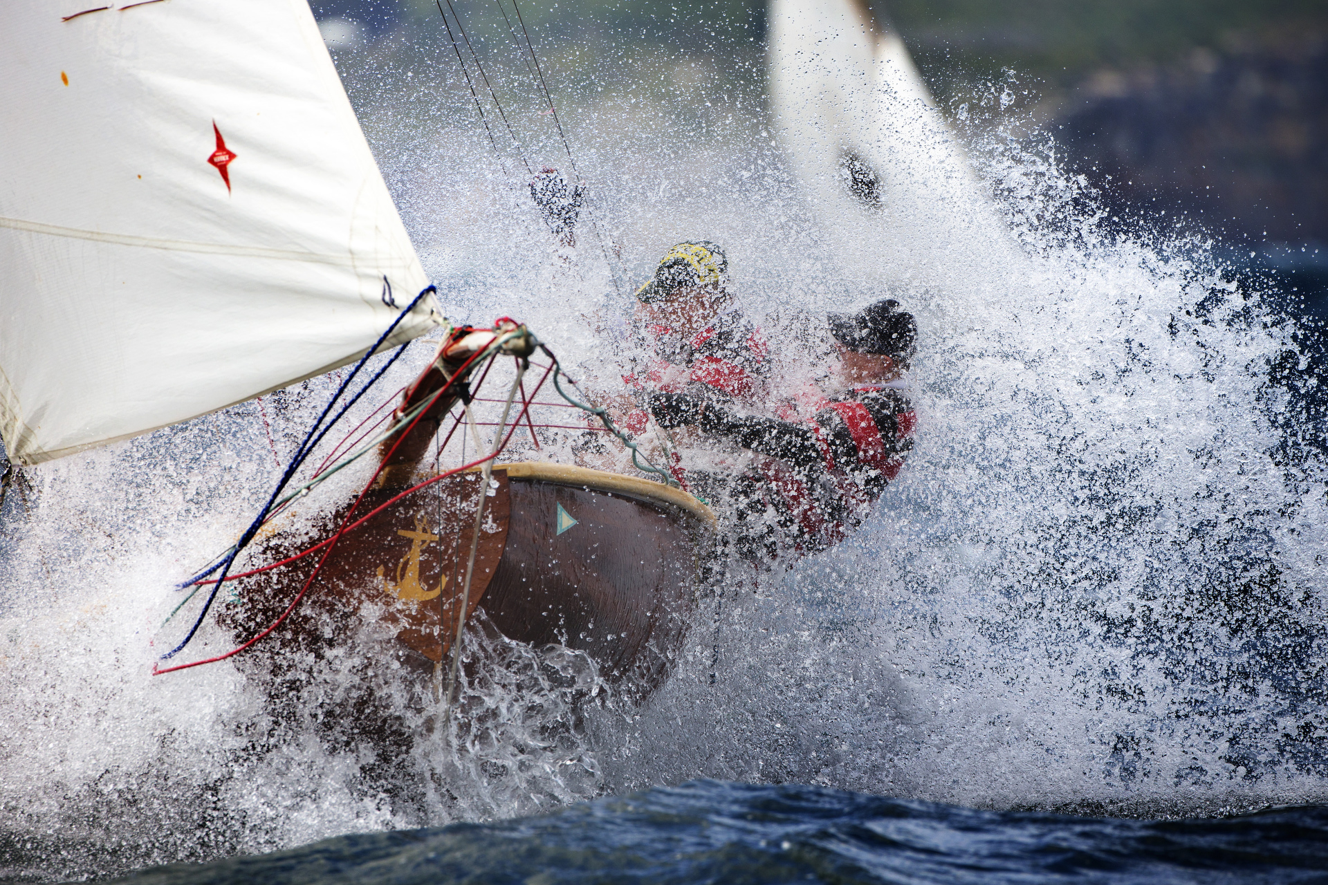 Sydney sailing photographer, aerial photography, classic yachts, historic 18ft skiffs,, yacht, regatta, ocean racing