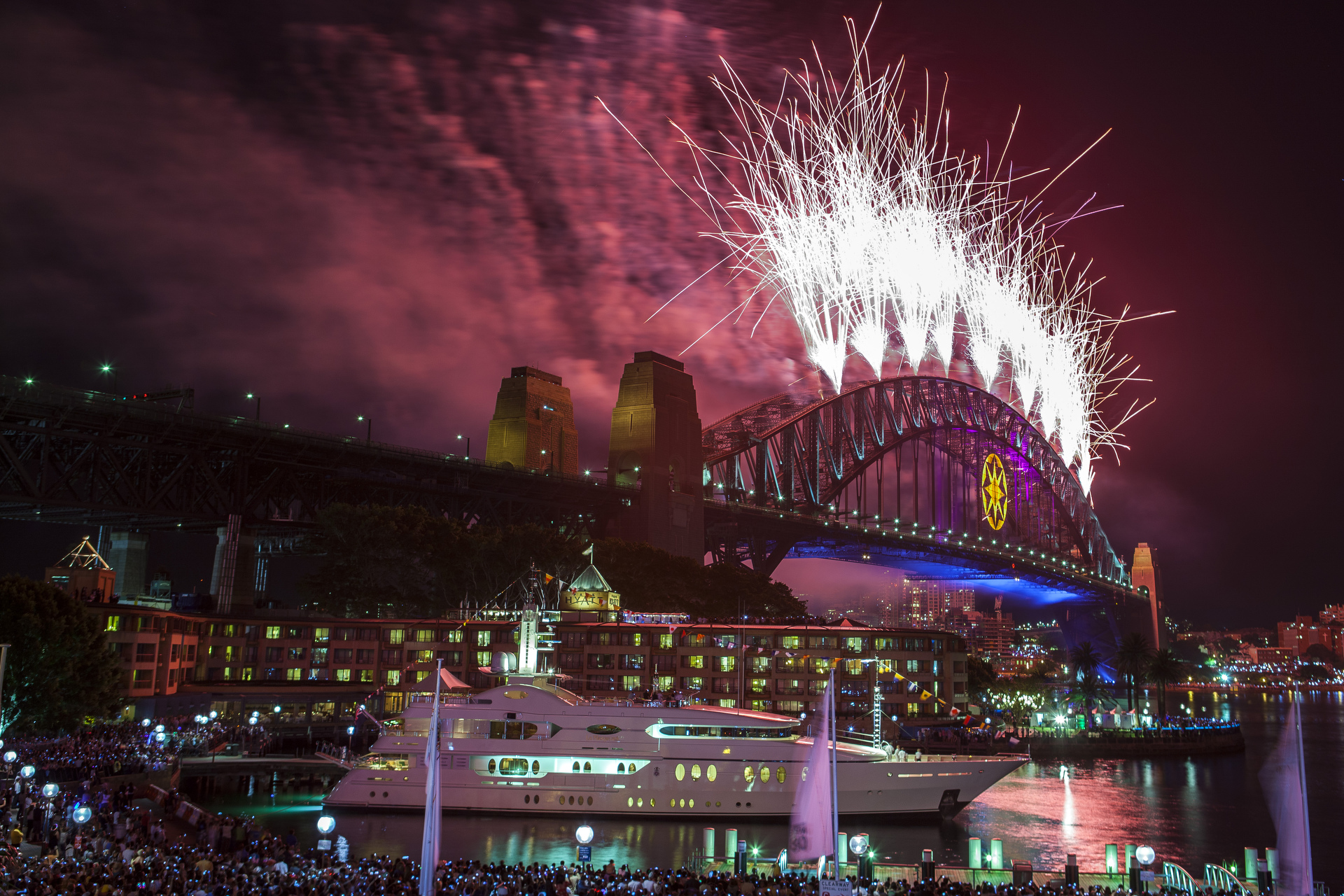 Sydney Superyacht & Boat Photographer, Super yacht, boats, luxury, rich, famous, dream, design, travel, ocean, yachts, super maxi, lifestyle, New Year's Eve, Fireworks