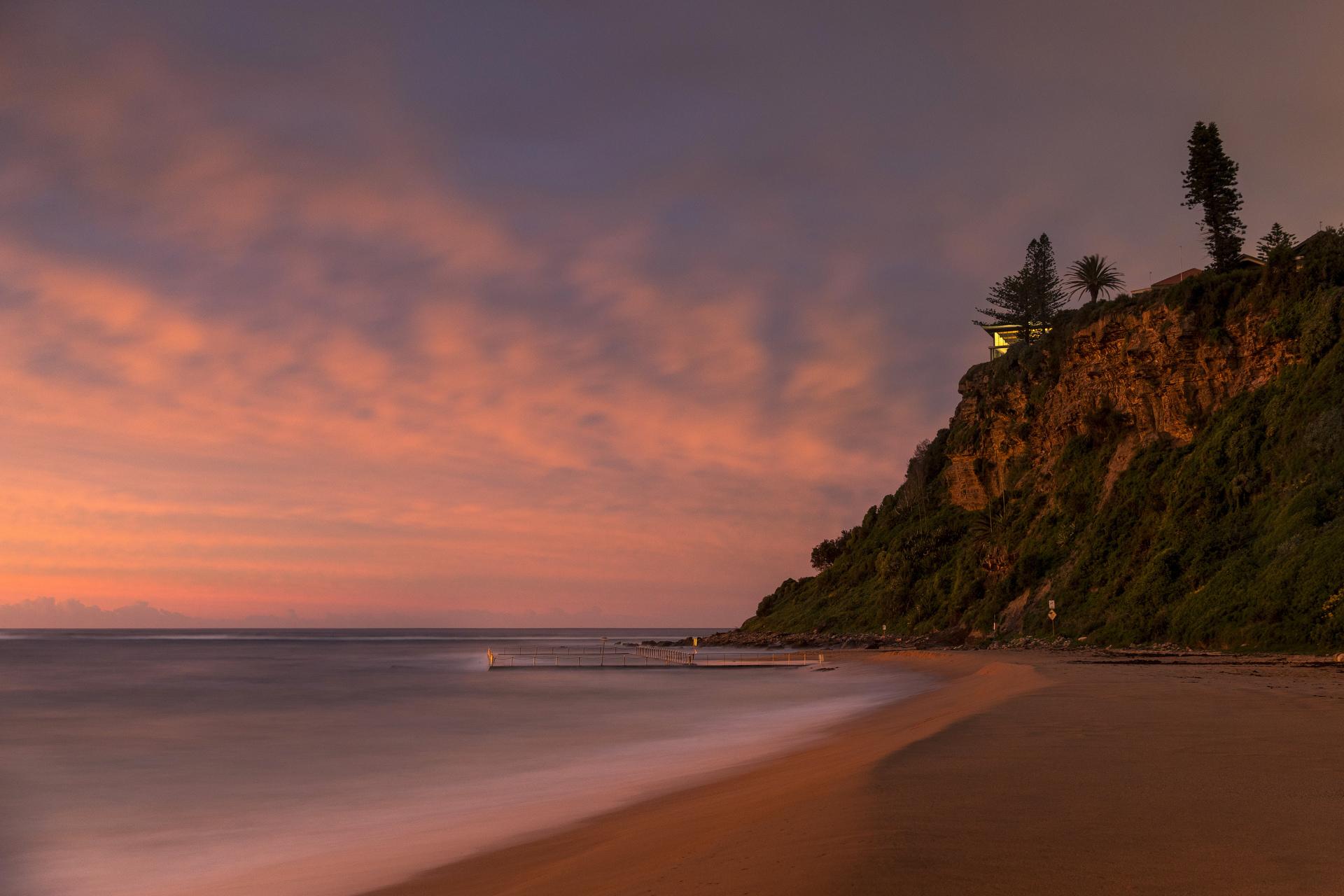 Sydney landscape photographer, sunrise, sunset, ocean, ocean pool, While you were sleeping, landscape, award winning, travel, NSW, Australia, sea, fine art prints, Newport, house